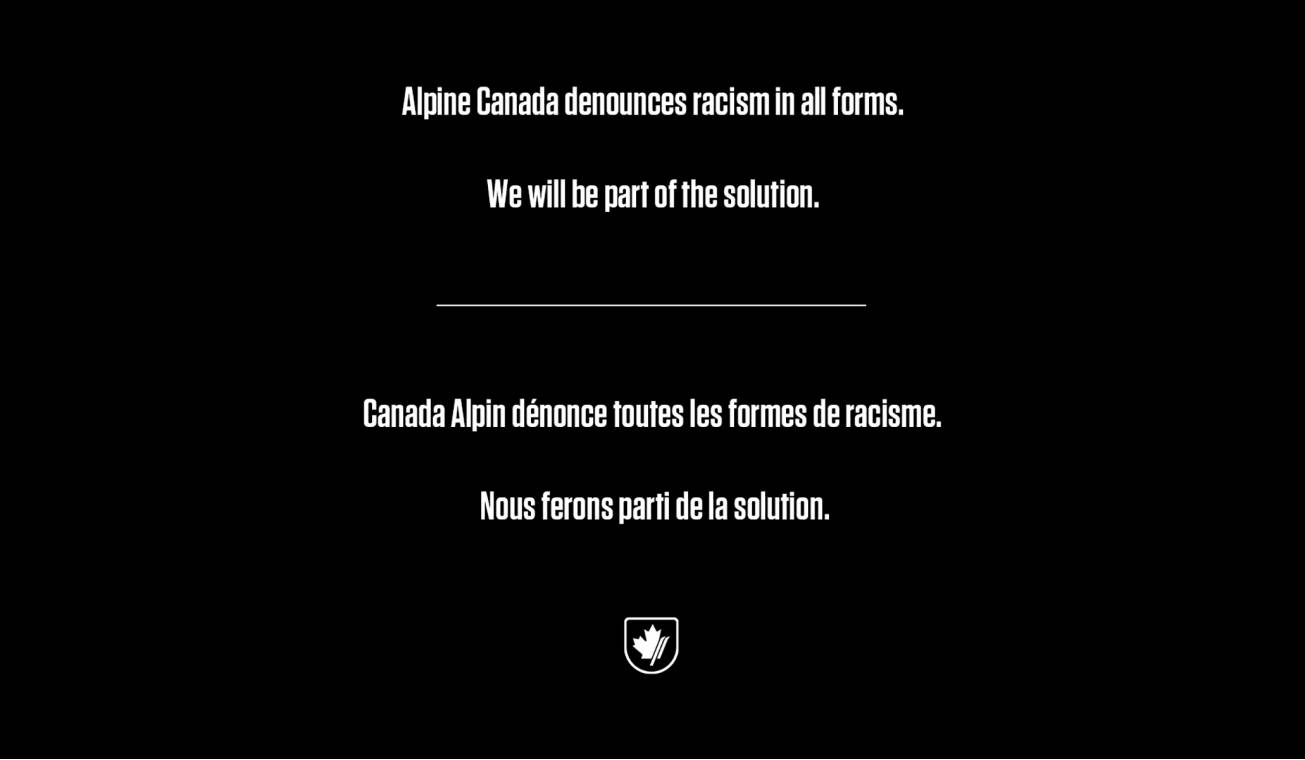 A message from Alpine Canada